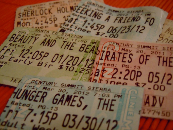 movie theater ticket stubs