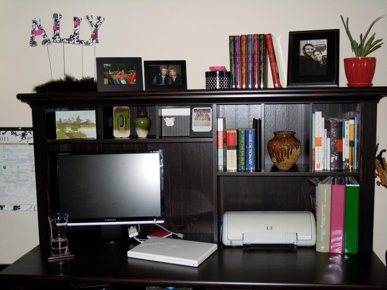 my organized desk area