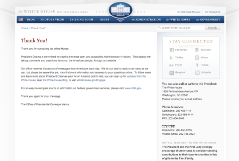 White house screenshot_thanks