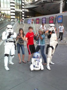 Laur with storm troopers