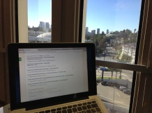 my desk and the view outside