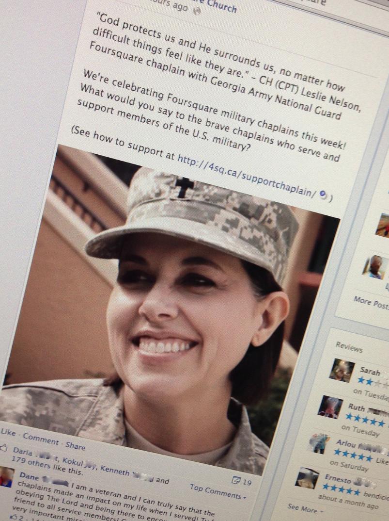 military chaplain on Facebook